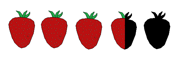 3 and a half strawberries