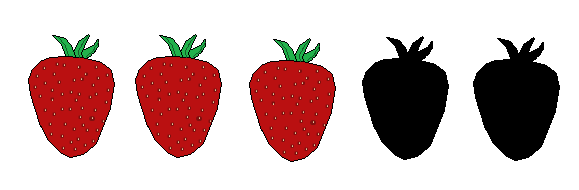 3 Strawberries
