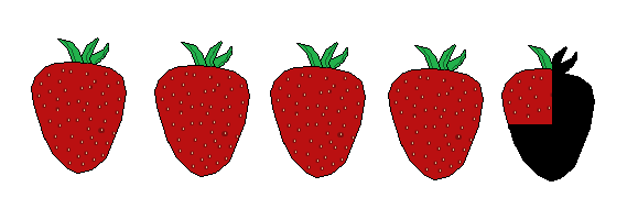 4 and a quarter strawberries WHITE