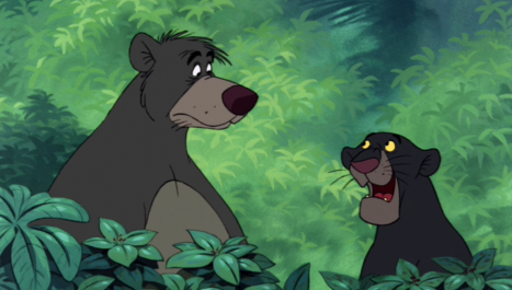 Image result for the jungle book 1967 baloo and mowgli