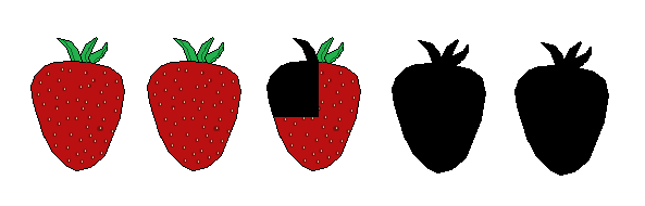 2 Three Quarters Strawberries