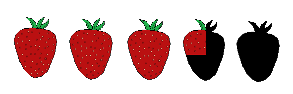 3 and a quarter strawberries